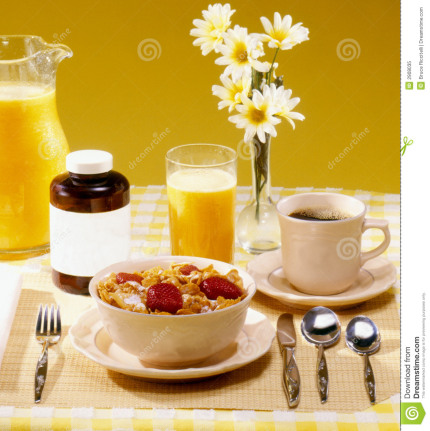 breakfast with vitamins