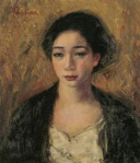 Woman's_Face_by_Fujishima_Takeji