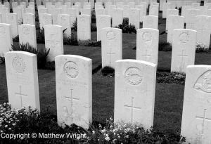Graves of New Zealand Division soldiers at Tyne Cot - a photo I took in 2004.