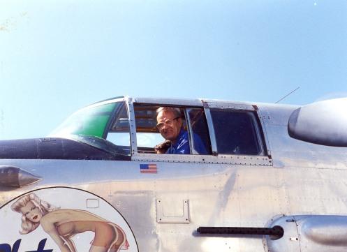 Ed Poltrack in Cockpit