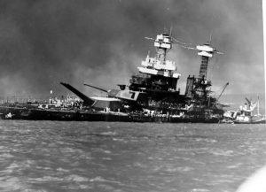 USS California damaged at Pearl Harbor