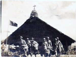 Troopers of the 11th Airborne heading out for a jump